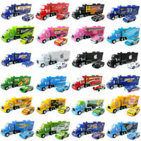 Disney Pixar Cars Lot McQueen King Cruz 36 Container Hauler Truck Model Toys Set