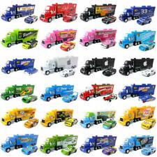 Disney Pixar Cars Lot McQueen Hauler Truck & Cars 1:55 Diecast Model Loose Toys