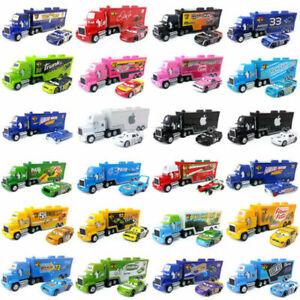 Pixar Cars NO.95 Lightning McQueen King Mack Hauler Container Truck Model Toys