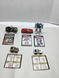 Lot of 5 Vintage G1 Transformers 1980s Hasbro Overdrive Twin Twist Hound + More