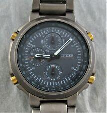 Citizen Titanuhr,Chronograph,Datumsanzeige,Uhr läuft,Batterie ist neu