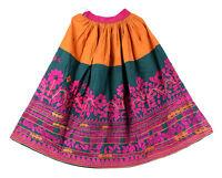 Indien Jupe Coton Kutch Brodé Rabari Femme Mode Bohémien Taille Patineuse