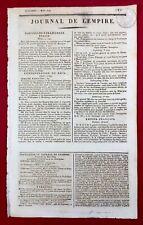 Gauriaguet en 1809 Jérome Napoléon Bayonne Turin Italie Wallenstein Homberg