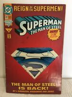 Reign Of The Supermen Superman Man Of Steel #22 Jun 1993 W/Poster&Die Cut Cover