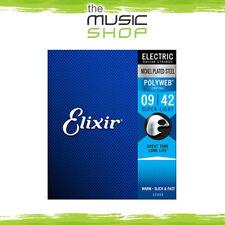 3 x Elixir Polyweb 9-42 Super Light Electric Guitar Strings - 12000