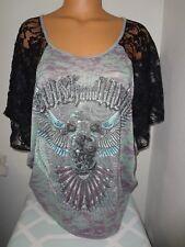 Buckle Crash & Burn Shirt/Top size Large
