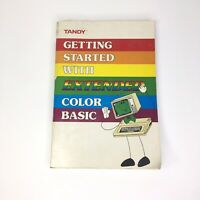 Tandy 1984 TRS-80 Getting Started With Extended Color Basic Computer Book