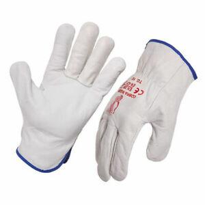 Genuine Cobra Grey Riggers Gloves Leather Work Gloves 12 Pairs