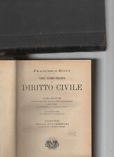 corso teorico-pratico di diritto civile - avv.francesco ricci - volume terzo
