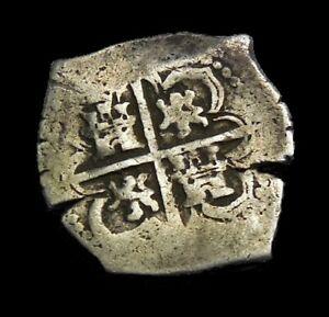 2 Reales Philip iii [1598-1621] Shipwreck Silver Coin-The Atocha-Bolivia