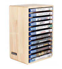 Real Wood Consoles Games DVD Storage Stand Wooden Rack Disk Tower For Sony PS4