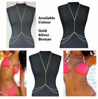 Stunning Sexy Body Belly, Waist, Bikini Beach Harness Slave Necklace Chain Party
