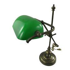Les banquiers lampe lampe de bureau modèle New York laiton Brüniert hauteur 50 cm vert