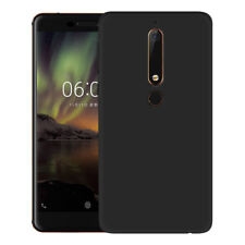 For Nokia 6 (2018) / 6.1  Case Slim Silicone Ultra Soft Gel Cover - Matte Black