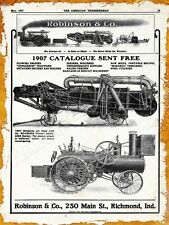 1907 Robinson Bonanza Traction Engine New Metal Sign: Richmond, Indiana