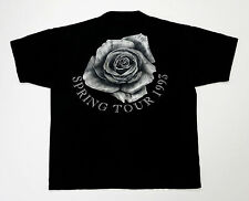 Grateful Dead Shirt T Shirt Vintage 1993 Spring Tour GD Stone Rose Black GDM XL