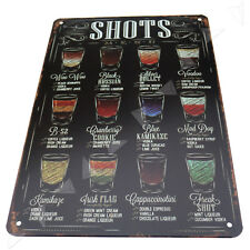 "Retro Metal Tin Sign Poster Plaque ""Shot"" Bar Pub Club Wall Cafe Home Decoration"