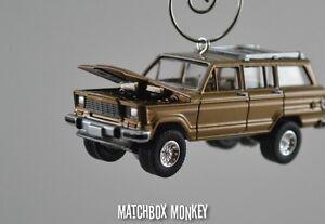 Vintage Style 1981 Custom AMC Jeep Wagoneer Christmas Ornament 1/64 Scale Adorno