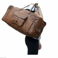 Bag Leather Travel Men Gym Luggage S Duffel Duffle Vintage Weekend Overnight New