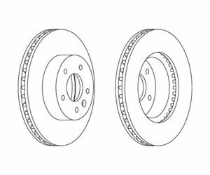 2 St. FERODO Bremsscheibe PREMIER Coat+ disc DDF1625C