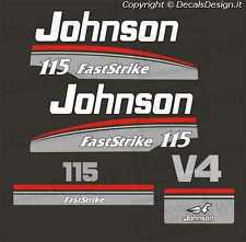 Adesivi motore marino fuoribordo Johnson 115 fast strike cv V4 gommone barca