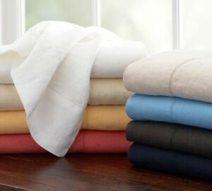 US Queen Size Bedding Items Deep Pocket 1000 TC Egyptian Cotton All Solid Colors