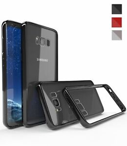 Shockproof TPU Bumper Case For Samsung Galaxy S8 Plus Note 8 Crystal Clear Cover