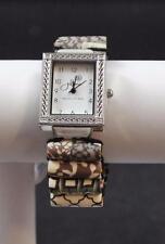 Jilzara Latte Tube Watch Polymer Clay Tubes Stretch Band Handmade Artisan
