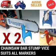 2X CHAINSAW BAR CHAIN STUMP VICE FILE FILING SHARPENING FITS STIHL BAUMR-AG VISE
