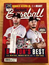 Beckett baseball price guide Nov 2018 Boston's Best (Betts & JD Martinez)