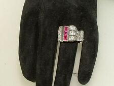 Platinum Ruby Art Deco Fine Jewellery