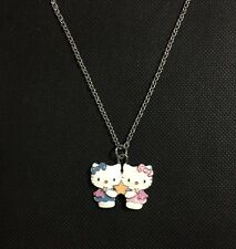Sanrio Hello Kitty Girls Women's Gemini Pendant Long Necklace Zodiac New Lovely