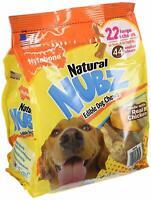 Nylabone Natural Nubz Edible Dog Chews 22 ct, 2.6 LB Each, Choose Quantity