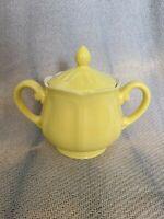 Vintage Yellow Buttercup Federalist Ironstone Sugar Bowl
