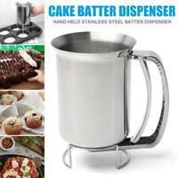 Edelstahl Donut Cupcake Waffel Teig Trichter Pfannkuchen Spender Küchenwerkzeug
