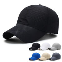Summer Men Women Breathable Mesh Sun Hat Adjustable Quick Dry Visor Baseball Cap