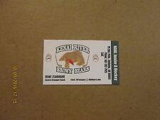 NAHL Kenai River Brown Bears Junior A Hockey Club Busines Card