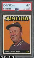 1965 Topps Hockey #11 Punch Imlach Maple Leafs PSA 7.5 NM+
