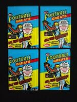 1988 Swell Football Wax Pack 4 Pack Lot