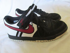 Nike Vandal Low Shoes Red~Black~White Size 6 Boy's Youth 6Y (Women's Size 7.5)