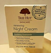 TREE HUT SKINCARE RENEWING NIGHT CREAM SOOTHING CHAMOMILE ALL NATURAL, NEW!