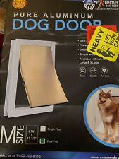 Pure Aluminum Dual Flap Dog Door Size Medium Brand New