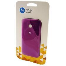 Motorola Moto E Shell Case Back Door Battery Cover - Violet NEW Official Genuine