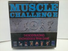 Muscle Challenge Bodybuilding Knowledge And Trivia Board Game USA Made 1990 Vtg