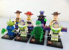 8 Pcs Mini Figures Toy Story 4 Building Toys Woody Buzz Lightyear Jessie #2ECDC