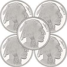 No Date Buffalo Medallion 1oz .999 Silver--5pc