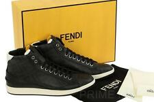 NEW FENDI MEN'S FF ZUCCA PRINT LOGO LEATHER HIGH TOP SNEAKERS SHOES 40/UK 6/US 7