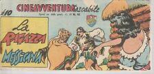 STRISCIA CINEAVVENTURA TASCABILE 12 EDIZIONE FANTERA 1952