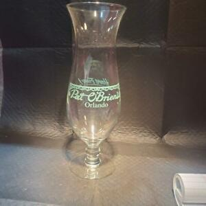GLASS - PAT O'BRIENS - DRINK GLASS SHAPED LIKE A HURRICANE LAMP SHADE - ITEM#388