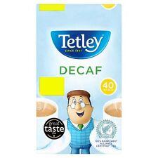 TETLEY DECAF 40 TEA BAGS 125G 40 CUPS BRITISH TEA HOLIDAYS TRAVEL OFFICE (222193